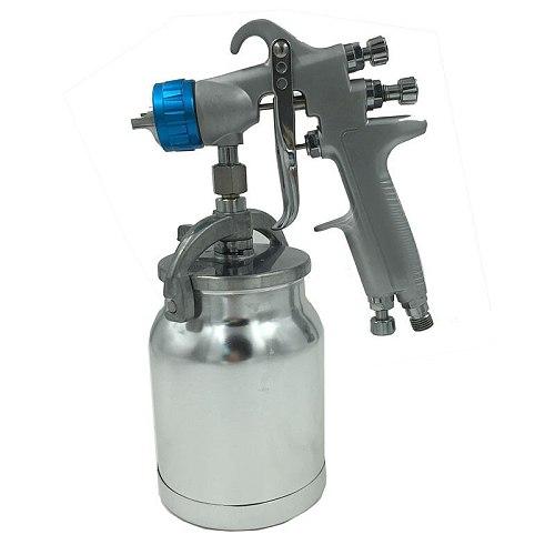 SAT0081 High Quality Spray Gun 1.3mm LVMP Air Spray Gun Gravity Feed Stainless Steel 1000ml Cup Auto Car Face Paint