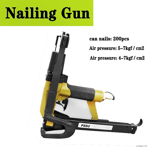 P88U Pneumatic Nailing Gun Brown Ship Gun 200pcs For Naling Sofa Cushion Cloth Blanket Pneumatic Nail Gun Air Stapler
