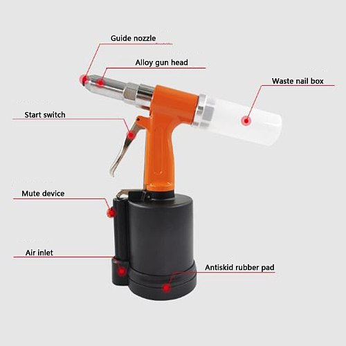 Realmote Pneumatic rivet gun Vertical nail gun decoration air tools Super strong pull Is suitable decoration to the carpenter