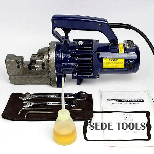 with Vedio/RC-22 Portable Hydraulic Electric Rebar Cutting Machine and Hand-held Electric Steel bar Cutter for 22mm