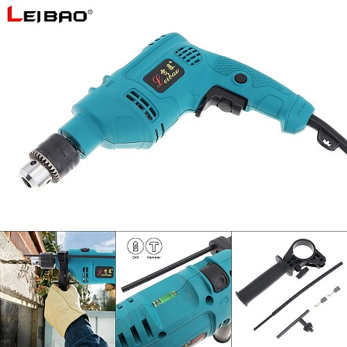 220V 550W Handheld Electric Pistol Drill with Dualuse Variable Speed Switch and 13mm Drill Chuck for Handling Screws