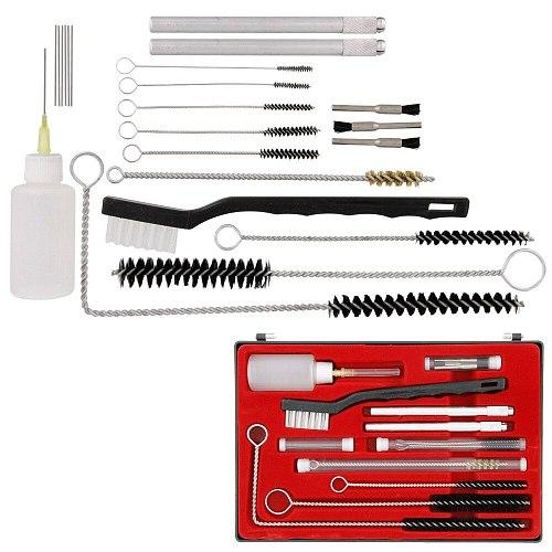 Air Brush Spray Gun Cleaning Kit  23pc Airbrush Gravity Paint Mini HVLP Detail Set