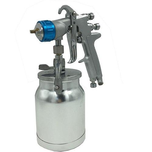 SAT0081 free shipping  high quality pneumatic/air high pressure blue chrome plating car painting gun