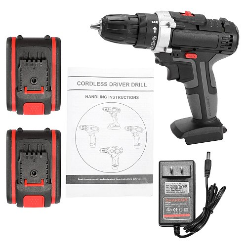 36V Multifunctional Electric Impact Cordless Drill High-power Lithium Battery Wireless Rechargeable Hand Drills Power Tools