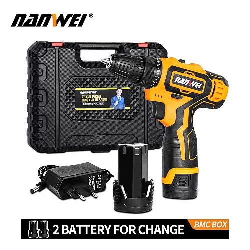 NANWEI 18V Electric Screwdriver Cordless Drill Driver-Power Tool