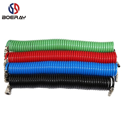 1PCS 29.5 FT by 1/4-Inch Recoil Air Hose, Air Compressor Hose With Swivel Fast adapter Ends And Bend Restrictor Fittings