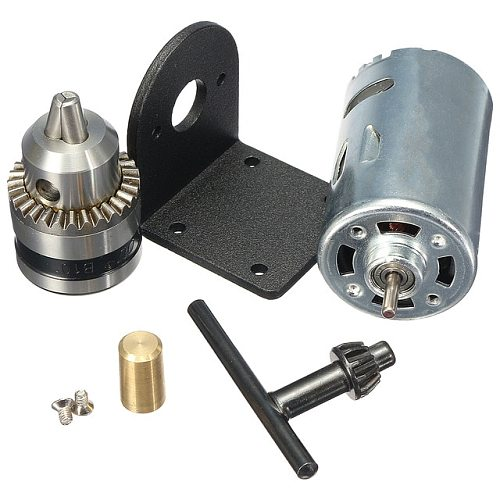 Hot Dc 12-36V Lathe Press 555 Motor With Miniature Hand Drill Chuck And Mounting Bracket Dc Motor