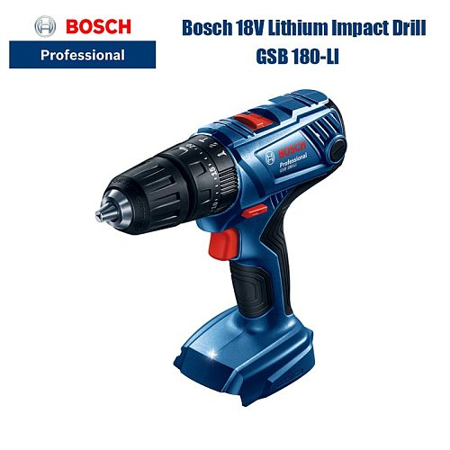 Bosch 18v Impact Drill GSB180-LI Electric Screwdriver Can Be Used For Metal Wood Drilling On The Wall (New Bare Metal)