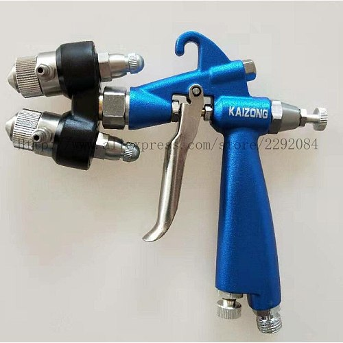 High Quality Double Nozzle Nanometer Spray Gun Air Brush HVLP Sprayer Paint Spray Tool Air Compressor Two-Component Nozzle