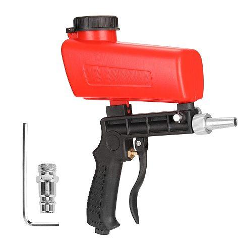 Portable Home DIY Mini Spray Gun Blastings Device 90psi Sandblaster Antirust Adjustable Sandblasting Machine