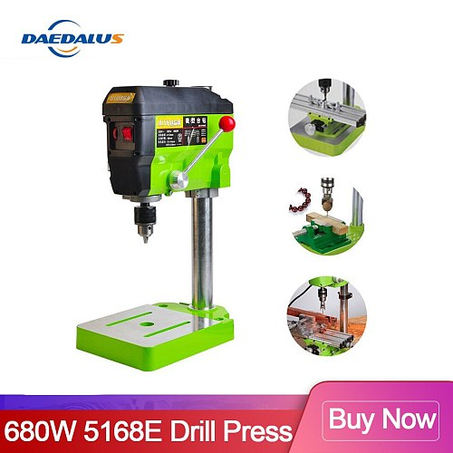 Mini Drilling Press 220V 680W Electric Milling Machine Variable Speed Drill Machine Grinder For DIY Power Tools