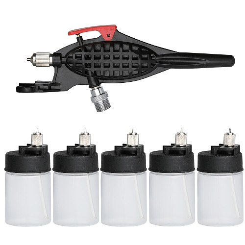 OPHIR High Atomizing Siphon Feed Airbrush 0.3mm Single Action Air Brush Kit for Makeup Body Painting Tattoo Hobby AC058