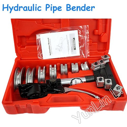 Hydraulic Pipe Benders Aluminum Alloy Hydraulic Pipe Bending Machine Quick Position Copper Tube or Hose Pipe Bender TB-22