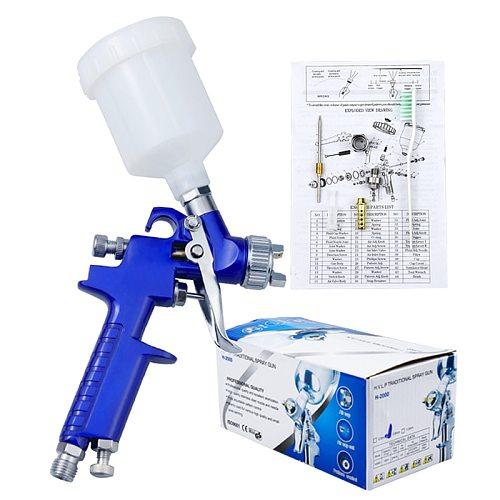 Plastic 125cc Cup Spray Guns Professional HVLP Spray Guns Hand Manual Spray Guns 0.8/1.0mm Sprayer Paint Airbrush Mini Tool