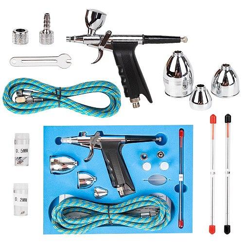 2cc/5cc/13cc Cup Airbrush Pen Spray Gun Precision Dual-action 0.2/0.3/0.5mm Nozzle Paint Air-brush For Nail Art Tool