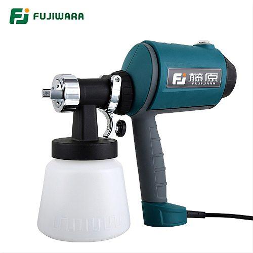 FUJIWARA  High-pressure Electric Spray Gun High Atomized Paint Coating Sprayer Spray Gun Car Furniture New Plating