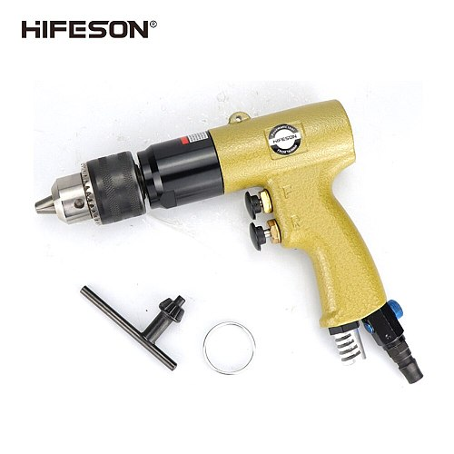 HIFESON Multifunctional Button Type Pneumatic Drill Speed Adjustable Pneumatic Pistol Type Pneumatic Drill 1/2  Tapping Drilling