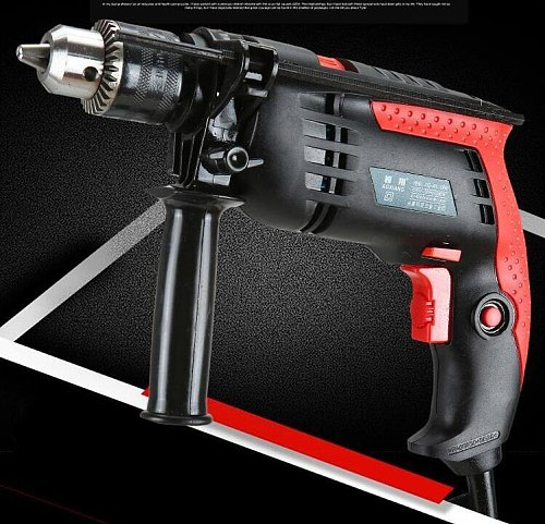 220V 1200W Speed Adjustable 13mm AC Impact Drill Electric Hammer Electric Drill Power Drill Woodworking Power Tool