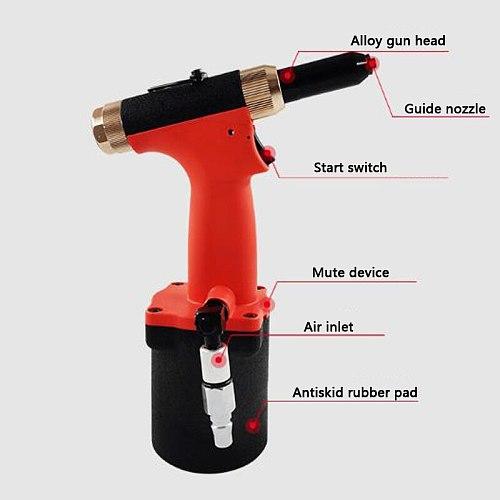 LAMEZIA Pneumatic Rivet Gun Pull-off Rivet Gun Non-clamping Air Riveter Suitable For Decorating