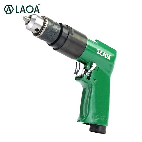 LAOA Air Drill Pneumatic Pistol Style 3/8  Pneumatic Impact Drill Positive and Negative High Speed Drilling Machine Air Tool