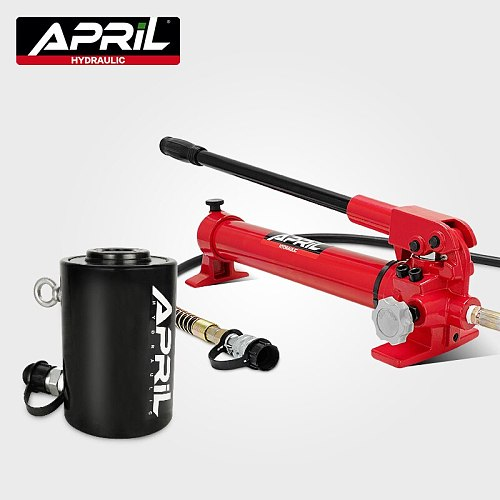 Hollow Hydraulic Jack Max.Stroke 50mm Cylinder Multi-use Manual Oil Pressure Hydraulic Lifting and Maintenance Tools RCH-2050
