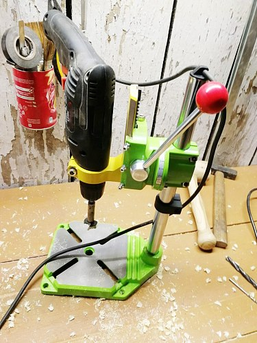 BG6117 Bench Drill Stand/Press Mini Electric Drill Carrier Bracket 90 Degree Rotating Fixed Frame Workbench Clamp