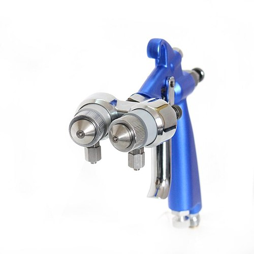 High Quality Double Nozzle AB Agent Nanometer Spray Gun Air Brush Two Color Sprayer HVLP Paint Tool
