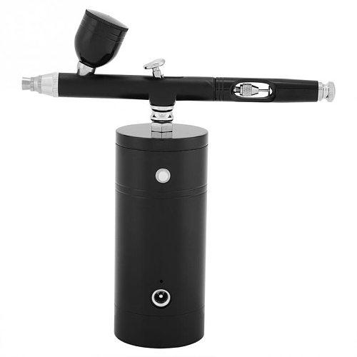 Top 0.3mm Black Mini Air Compressor Spray Gun Airbrush Set DIY Wall Drawing Painter Sprayer Gun 7CC Capacity Set