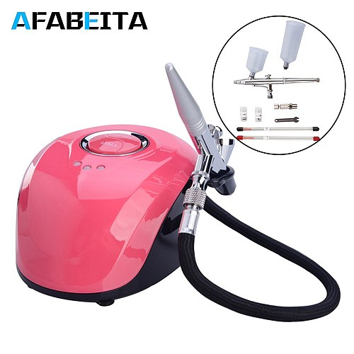 0.2/0.3/0.5mm Dual Action Airbrush With Compressor Spray Guns Model DIY Tattoo Cake Paint Nail Airbrush 3 Speeds Modes