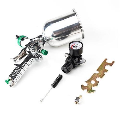 600CC 2.5mm HVLP Spray Gun Gravity Feed Gauge Flake Primer Nozzle Auto Paint Primer Metal Flake