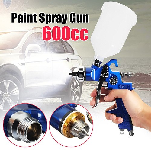 New High Quality 1.4/1.7/2.0mm Nozzle 600ML HVLP Professional Spray Gun Air Spray Paint Guns For Car Repair Tool Painting Kit