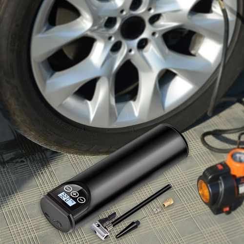 Multipurpose Portable Electric Inflator USB Rechargeable LCD Display Tire Air Pump LED Light Air Compressor for Bike Car