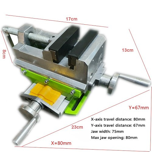Cross Slide Vise Vice table Compound table Worktable Bench alunimun alloy body For Milling drilling  new style