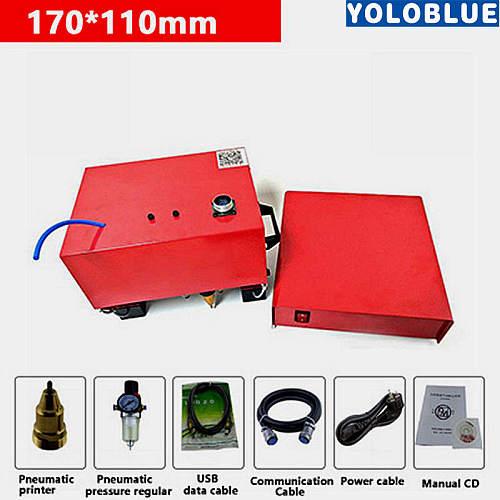 Portable Marking Machine For VIN Code Pneumatic Dot Peen Marking Machine (170*110mm) chassis number 220V/110V