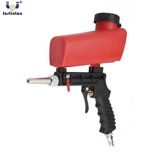 JUSTINLAU 90psi Portable Gravity Sandblasting Gun Pneumatic Small Sand Blasting Machine Adjustable Pneumatic Sandblasting Set
