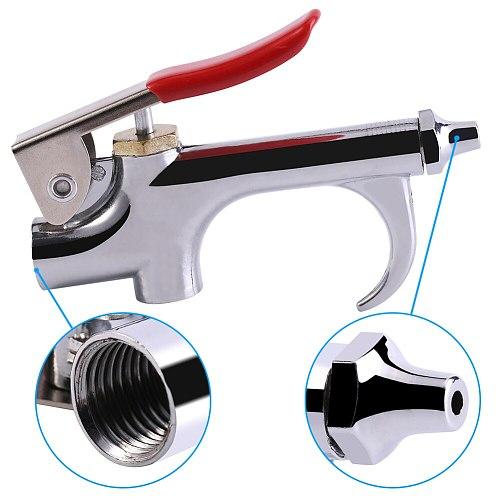 1pc Zinc Alloy Air Compressor Blow Kit Blower Dust Removing Gun Tool With Nozzle Zinc Alloy Blow Gun Small Hexagon Nozzle