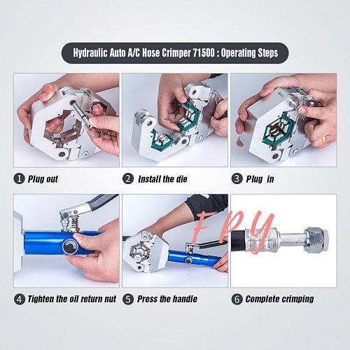 Manual Hydraulic Hose Crimper Crimping Tool Auto A/C Hose Hydra-Crimper Repair Air Condition Hose 71500