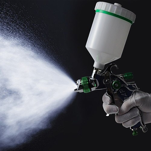 G2008 Professional HVLP 600ML 1.4/1.7/2.0mm Nozzle Gravity Pneumatic Air Paint Spay Gun For Car Auto Repair Tool Painting Kit