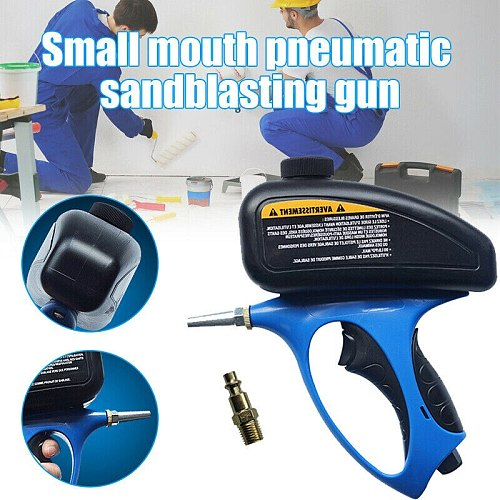 Anti-rust Sandblaster Handheld Pneumatic Sand Blasting Machine Glass Tombstone Sprayer Sandblasting Machine with Small Nozzle