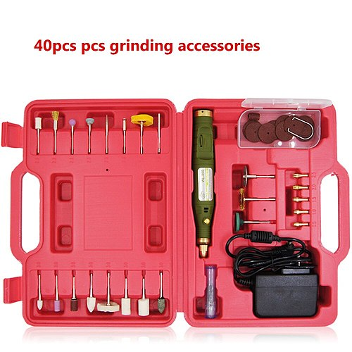 Free Shipping electric mini drill +160pcs grinding accessories + adapter Multifunction Engraving machine Electric tool set kit