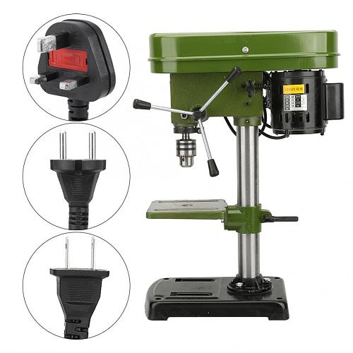 Miniature Electric Bench Drill Press Workshop Mounted 350W 5 Speed 50mm Drilling Depth Electric Nail Drill Machine