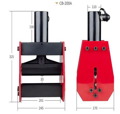 iGeelee CB-200A Hydrauilc Busbar Bender Copper Bending Tool for 12mm max of sheet, applicable for AL/ Cu sheet