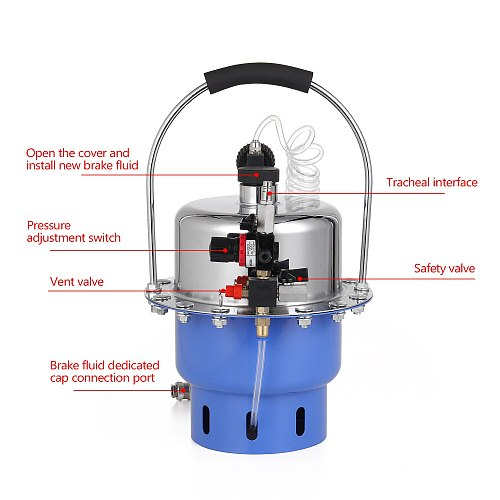 Portable Professional Pneumatic Brake Oil Changer Bleeder Automobile Hydraulic Brake Fluid Filling Extraction Equipment