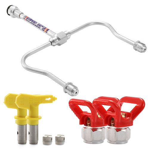 Airbrush Metal Extension Rod 2 Spray Nozzles 2 Washers Airless Paint Sprayer Kit Airless Spray Machine Spray Gun Accessories
