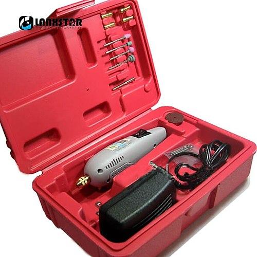 Lanxstar Portable Electric Nail Drill Manual Power Tool Belt Toolbox Grinder Kit Miniature Engraving PCB Press Electric Grinder