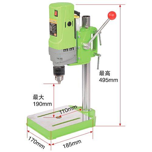 Mini Drill Press Bench Small Electric Drill Machine Work Bench Variable Speed Drilling Chuck 1-13mm 220V 710W EU Plug