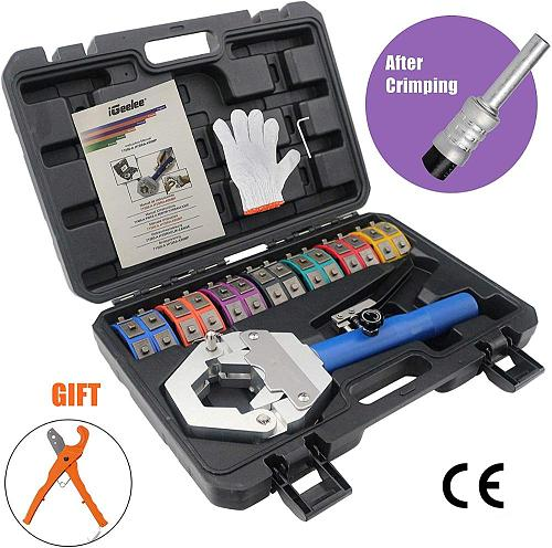 iGeelee Hydraulic Hose Crimping Tool IG-71500 Hose AC crimping tool for Barbed and Beaded Hose Fittings with CE proved