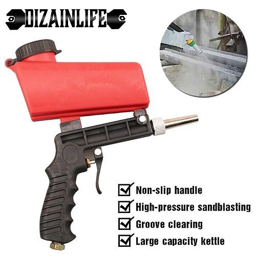 Portable 90psi Adjustable Sand Blasting Machine Gravity Sandblasting Gun Small Handheld Pneumatic Sandblasting Gun Set
