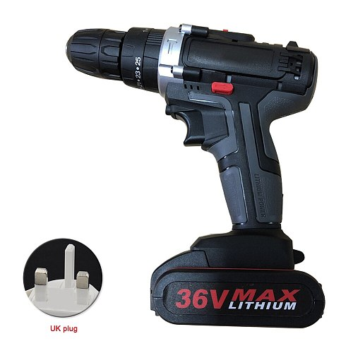 3in1 Brushless Power Tools Rechargeable 25 Torque Battery Powered Cordless Drill 36V Multifunction 2 Speed Handheld Ergonomic