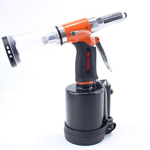 YOUSAILING Powerful Vacuum Air Riveter 3.2, 4.0, 4.8mm, 6.4mm Pneumatic Rivets Gun Air Riveter Gun Strong Self-absorb Riveter